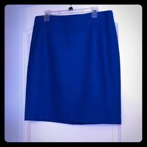 J Crew wool blend pencil shirt in blue